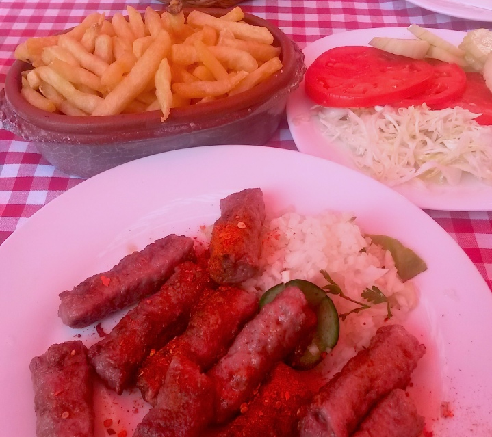 Lunch at Question Mark restaurant in Belgrade
