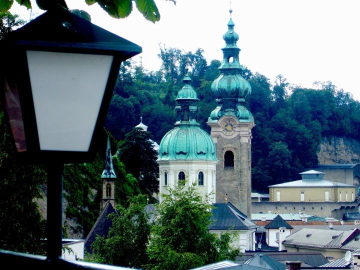 View of Salzburg from Stieglkeller terrace