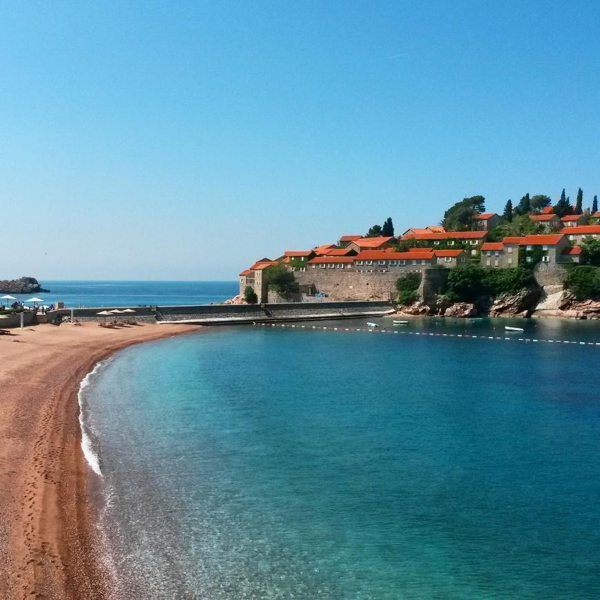 Sveti Stefan beach in Montenegro