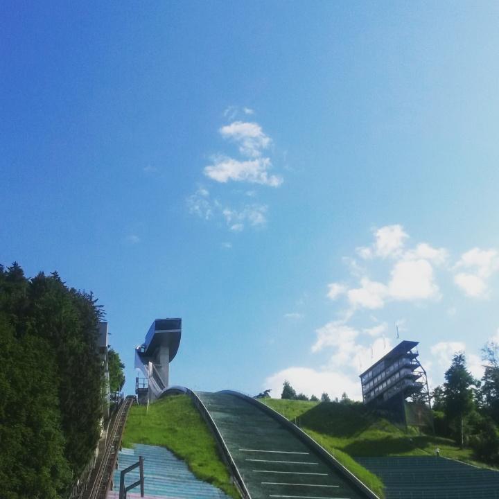 Burgisel Ski Jump in Austria designed by Zaha Hadid