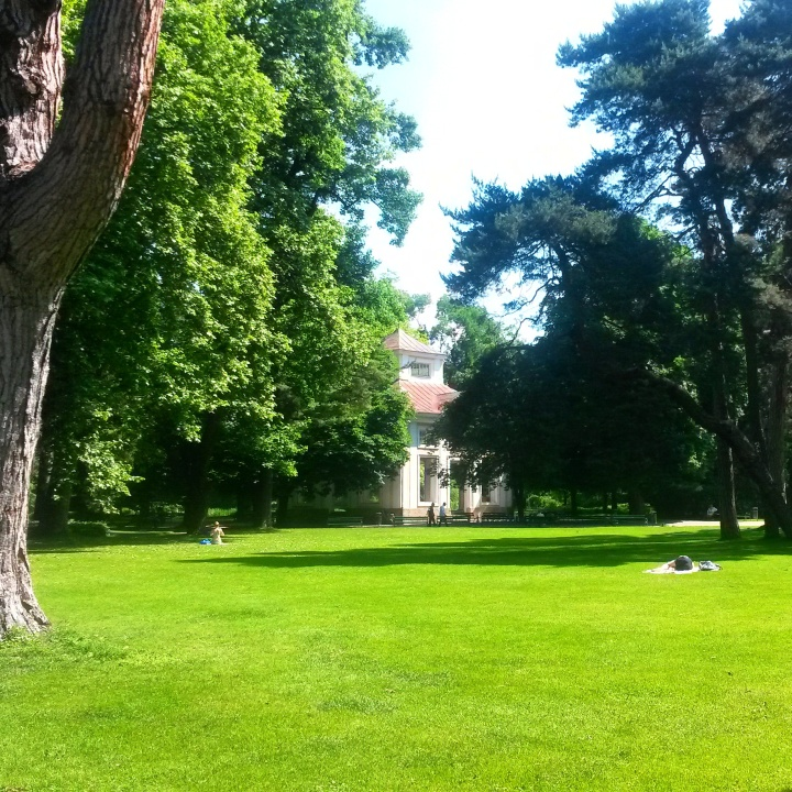 Imperial Gardens in summer in Innsburck