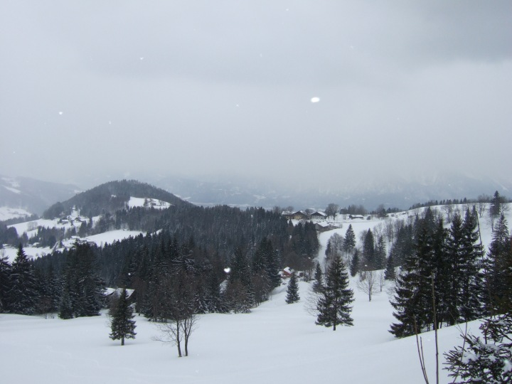 Gaisberg in winter in Slazburg