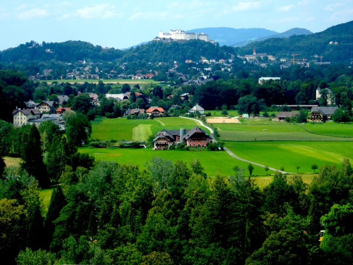 View of Salzburg from Hellbrunner Berg