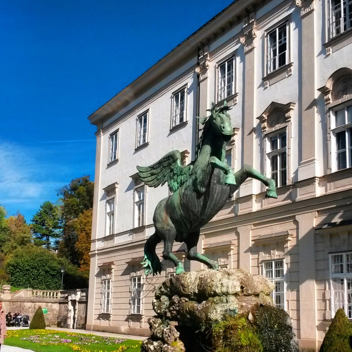 The horse in the Mirabell Gardens in Salzburg