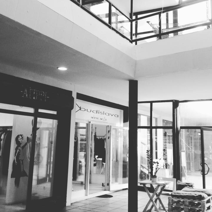 The boutiques in Belgrade Design District
