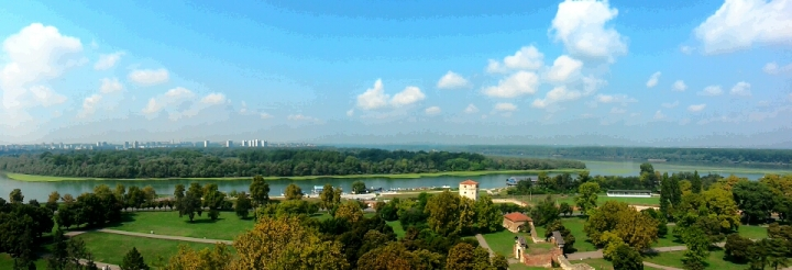 View of the Sava and Danube trivers from Belgrade Fortress