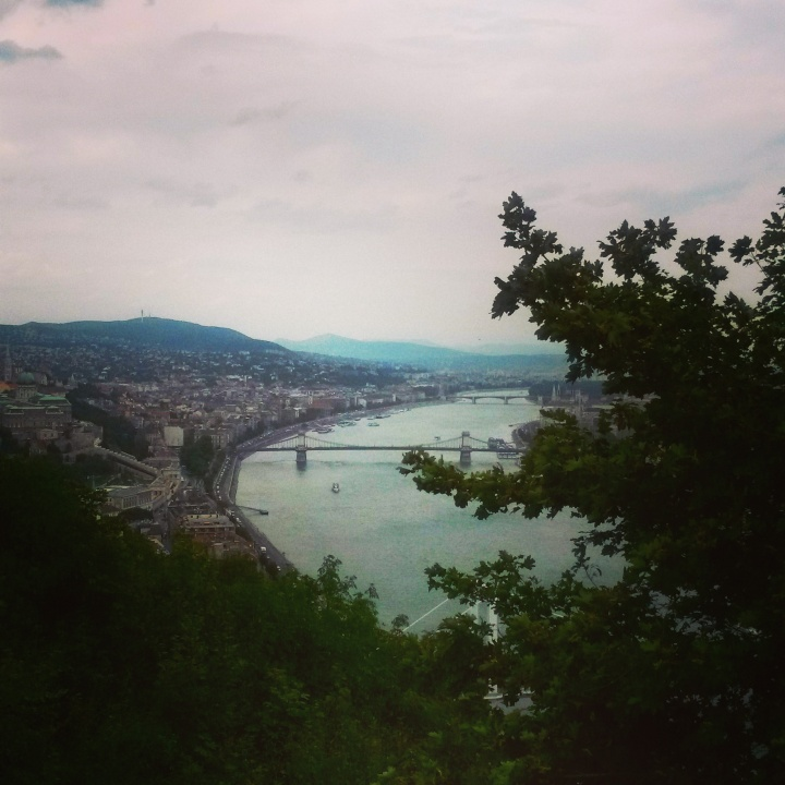 The view from Géllert Hill in Budapest
