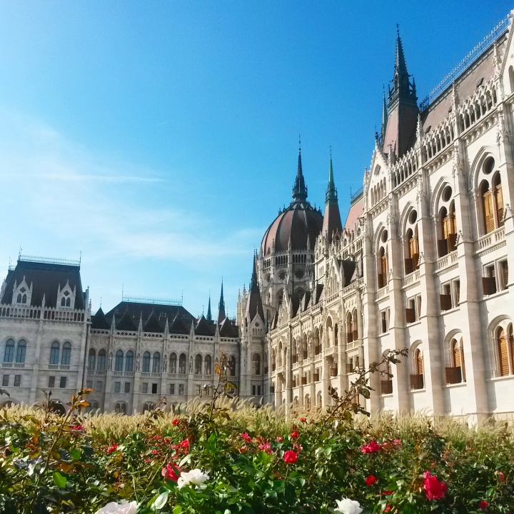 Exterior of Hungarian Parliament in Budapest