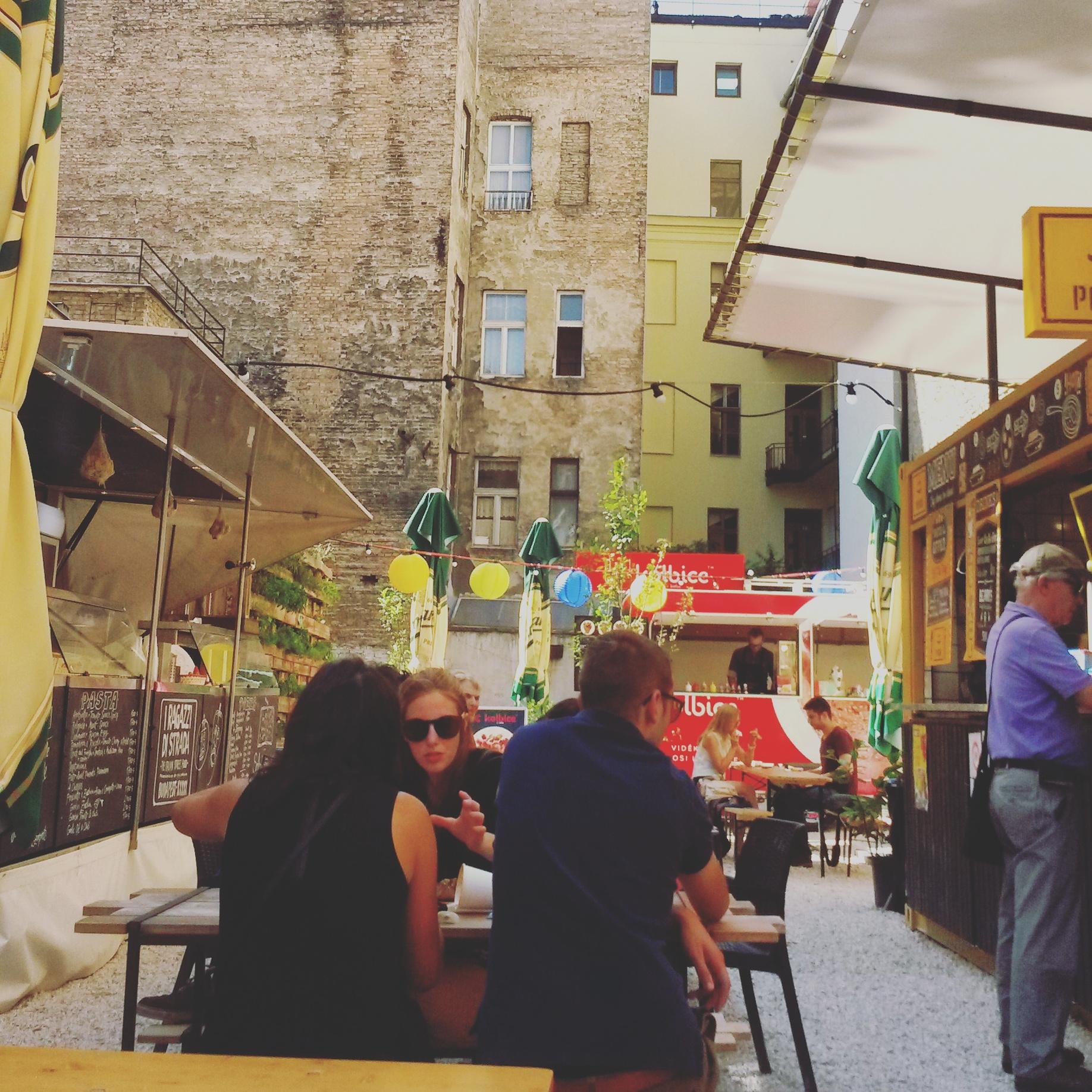 Karavan street food courtyard in Budapest