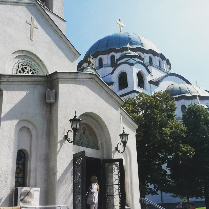 Church of Saint Sava and the small church of St. Sava