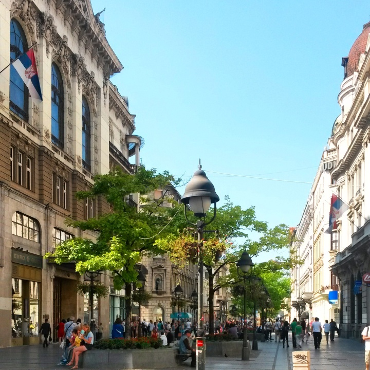 Knez Mihailova – the main shopping street in Belgrade