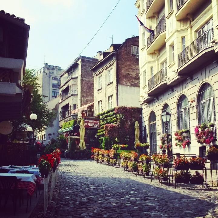 Skadarlija bohemian quarter in Belgrade