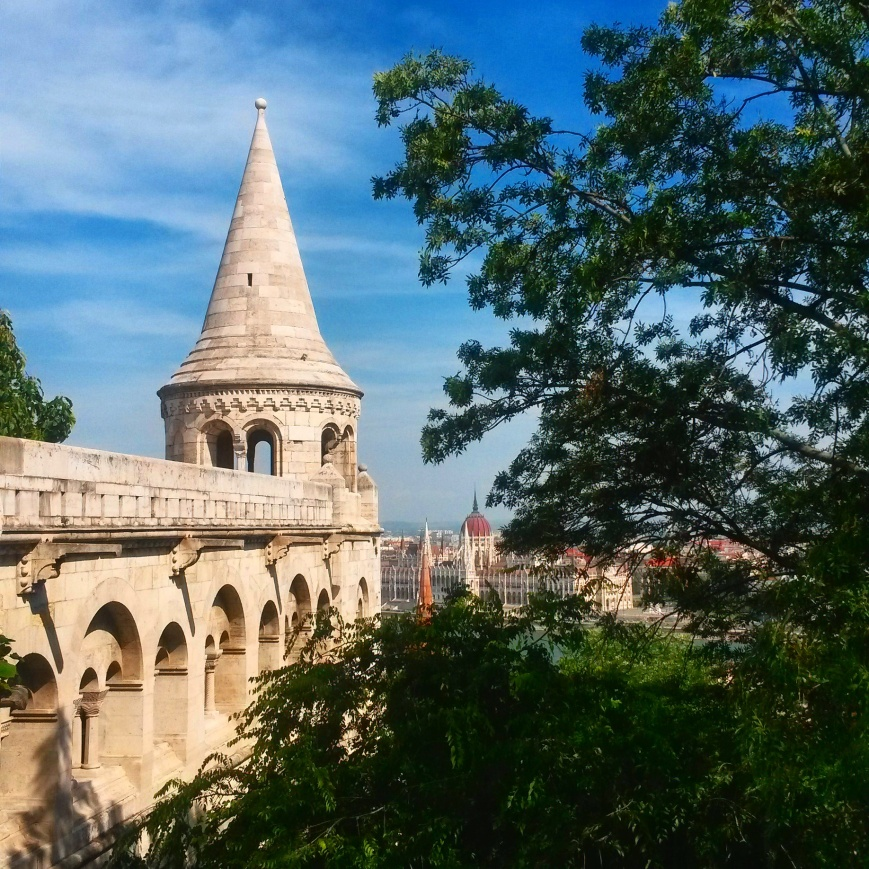 The view from the Fisherman's Bastion in Budapest