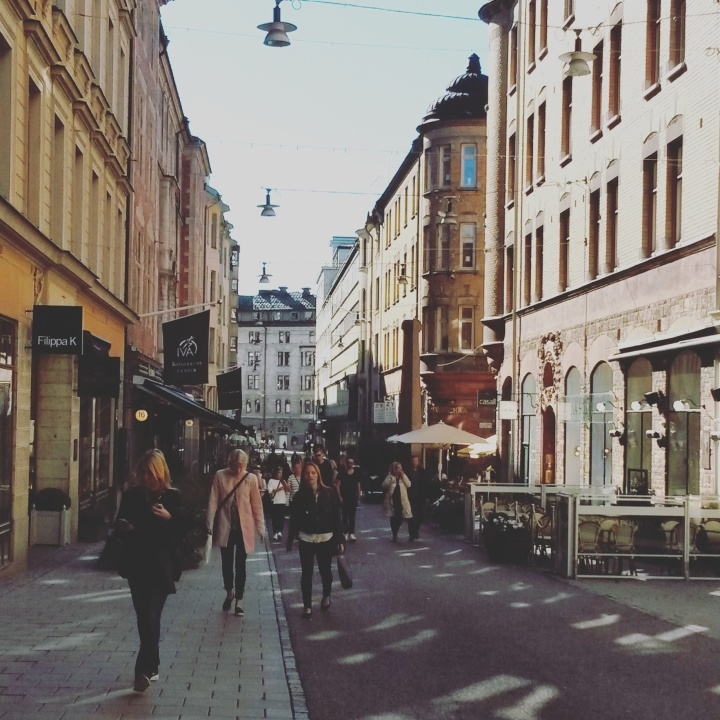 Shopping streets in Östermalm, Stockholm