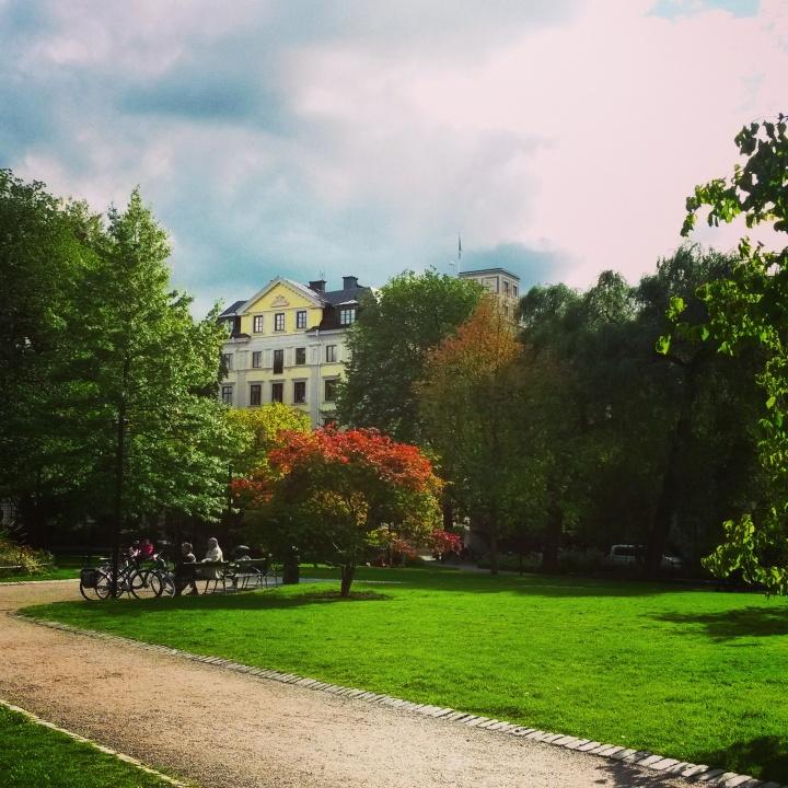 Berzelii Park in Norrmalm, Stockholm