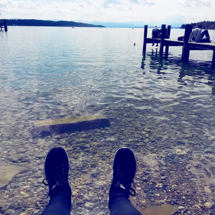 Crystal clear water at Starnberger See in Germany
