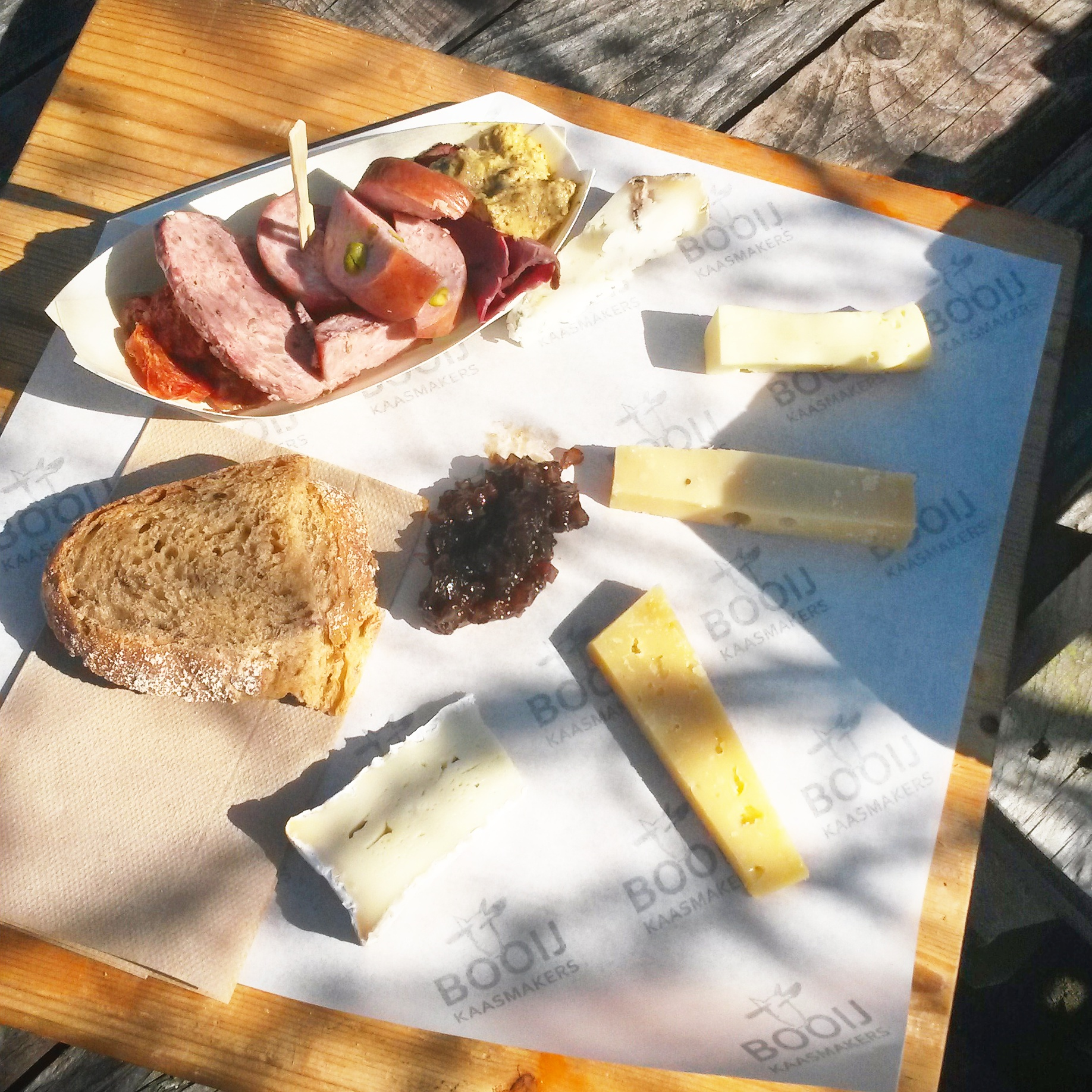 Fenix Food Factory's cheese and charcuterie board