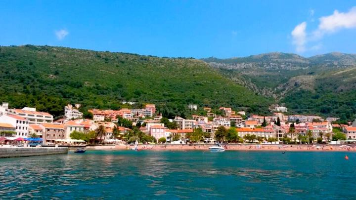Petrovac village from the boat