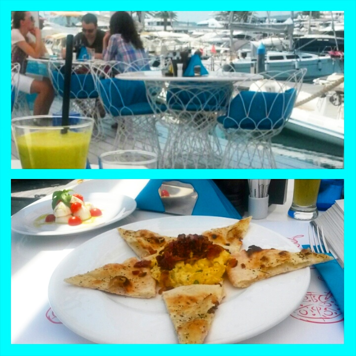 Breakfast at Al Posto Giusto, Porto Montenegro