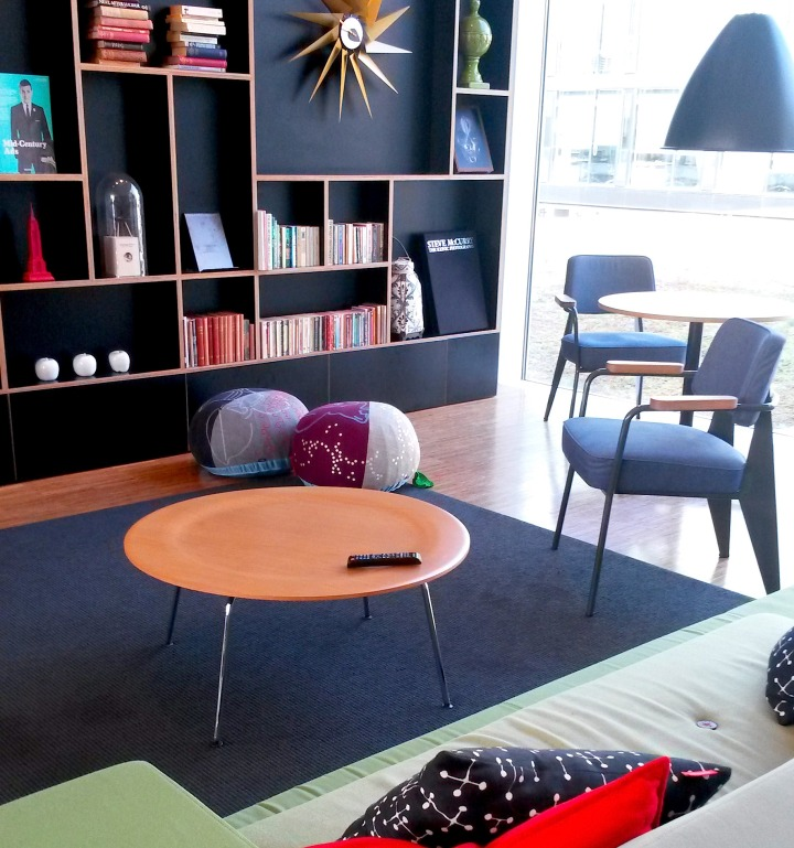 Living room area at citizenM Rotterdam