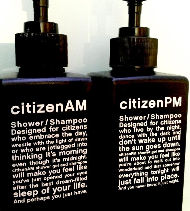 citizenM shower gels