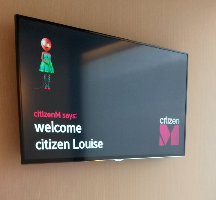citizenM Rotterdam welcome message