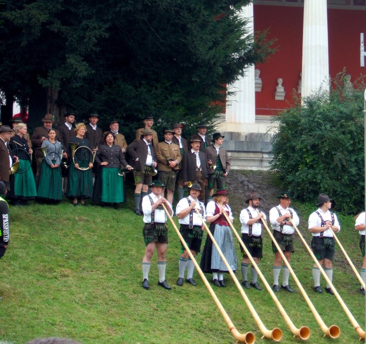 Alphorn players at the Okotberfest