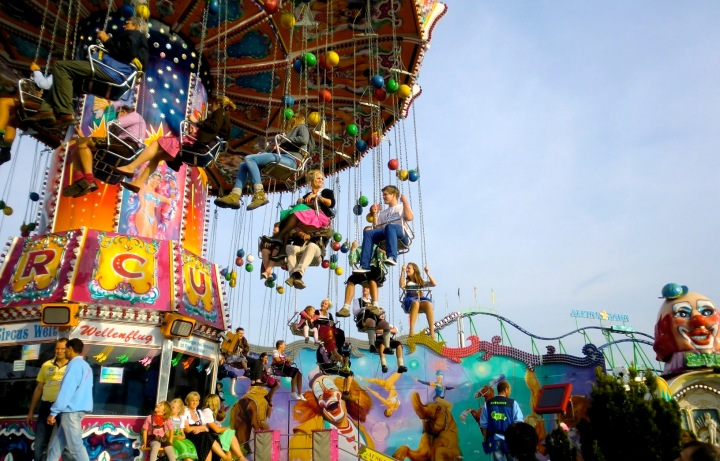 The swing ride at Oktoberfest