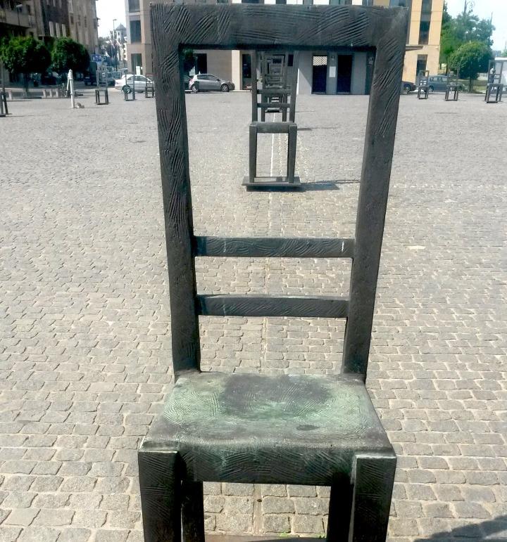 The Empty Chairs Memorial in Krakow