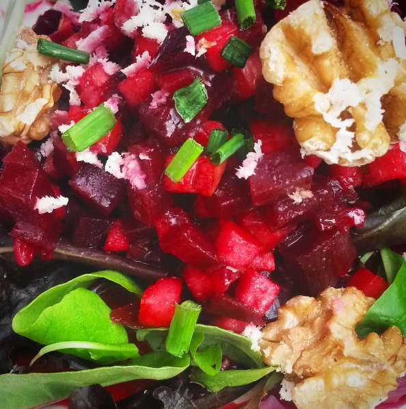 Beetroot and walnut salad at Picnic in Munich
