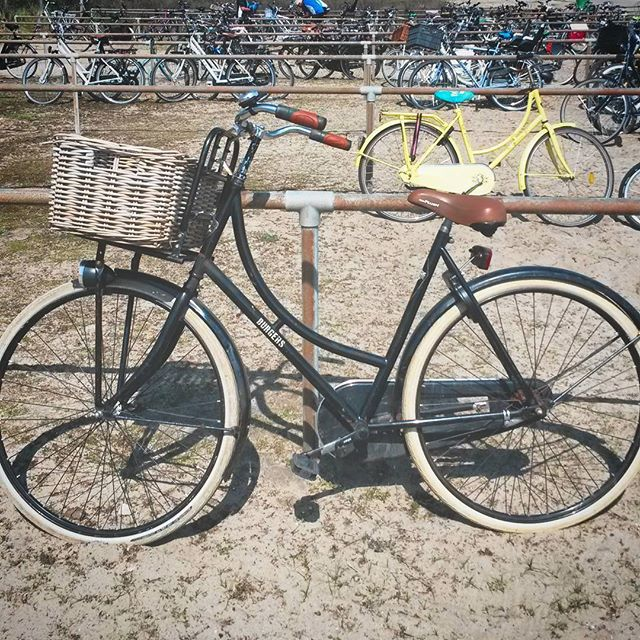 Dutch bicycle at the seaside