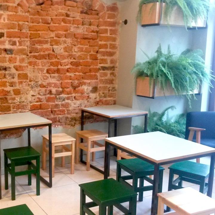 Inside Krowarzywa vegan restaurant