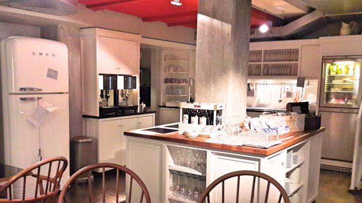 Henri Hotel kitchen area