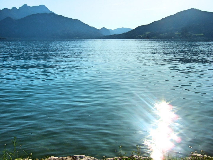 Summer swimming the the Salzkammergut