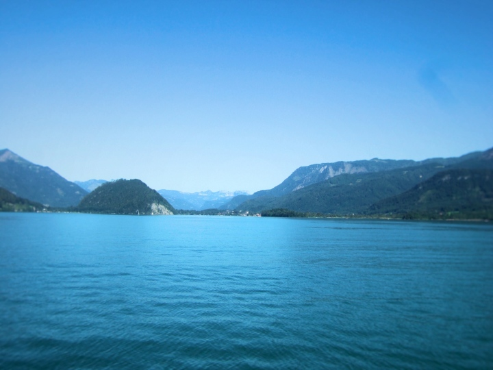 Mountains and lakes in the Salzkammergut