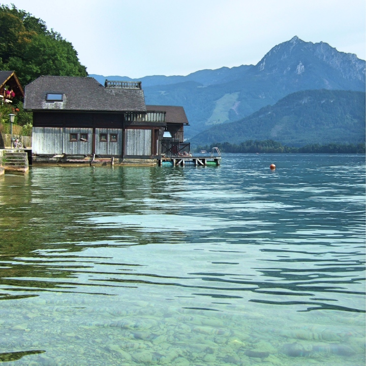 Boat house on Wolfgangsee