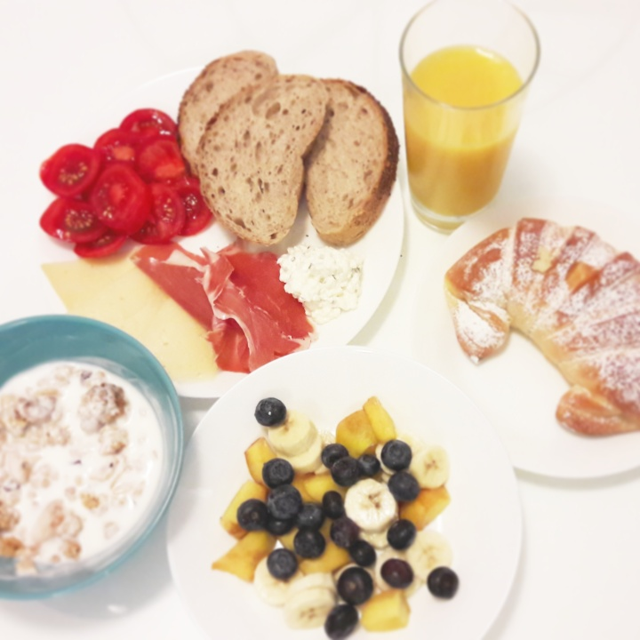 Meats, cheeses, pastries and fruit in Croatia